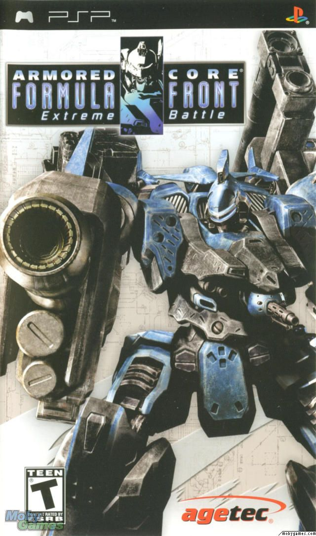 Armored Core Formula Front Extreme Battle Psp Front Cover With