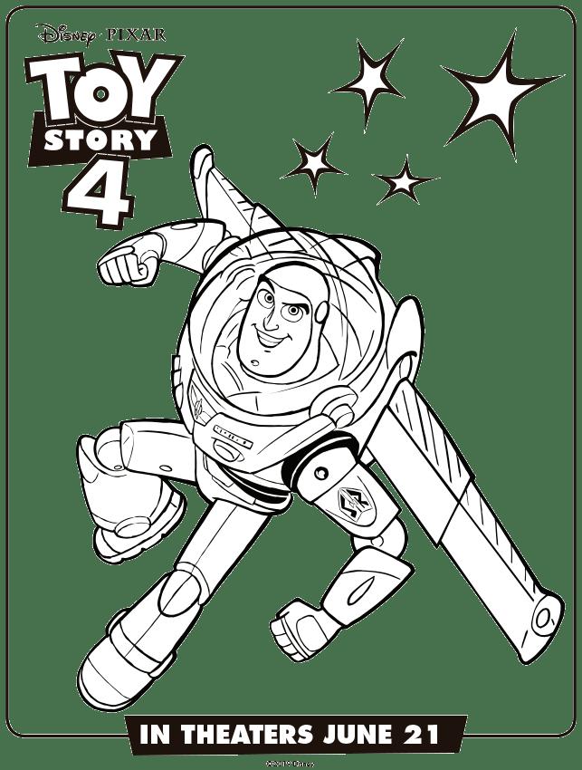 Toy Story 4 Buzz Lightyaer Colorear Dibujos Toy Story Para Colorear Imprimibles Toy Story Gratis Dibujos Para Colorear