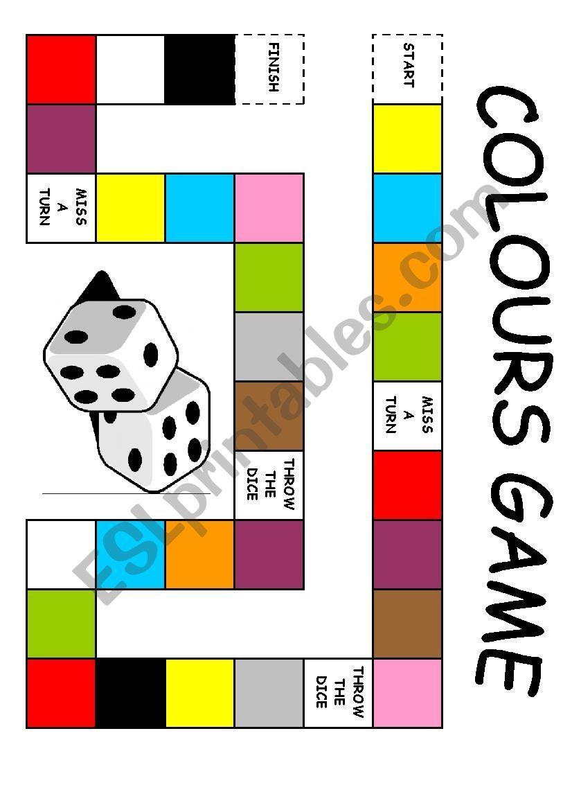 Colours Board Game Esl Worksheet By Edurne Tudela Board Games Esl Board Games Board Game Themes