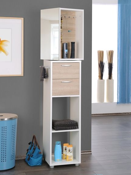 Home & Order Mobile da Bagno Bianco altezza 182 cm, larghezza 35 cm ...