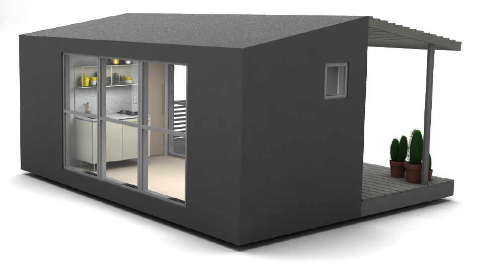 Flat Packed Mini House 2 0 Has Electricity And A Fitted
