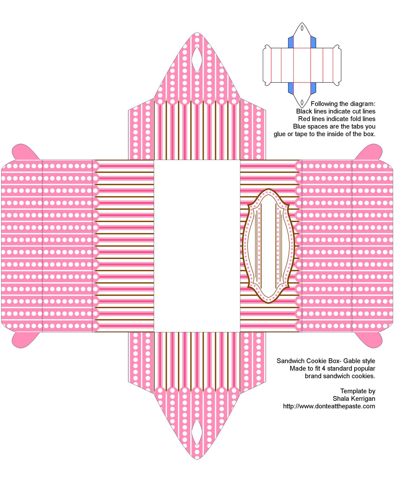 Cookie box- new template! | Cajas, Cajas creativas y Impresiones de ...