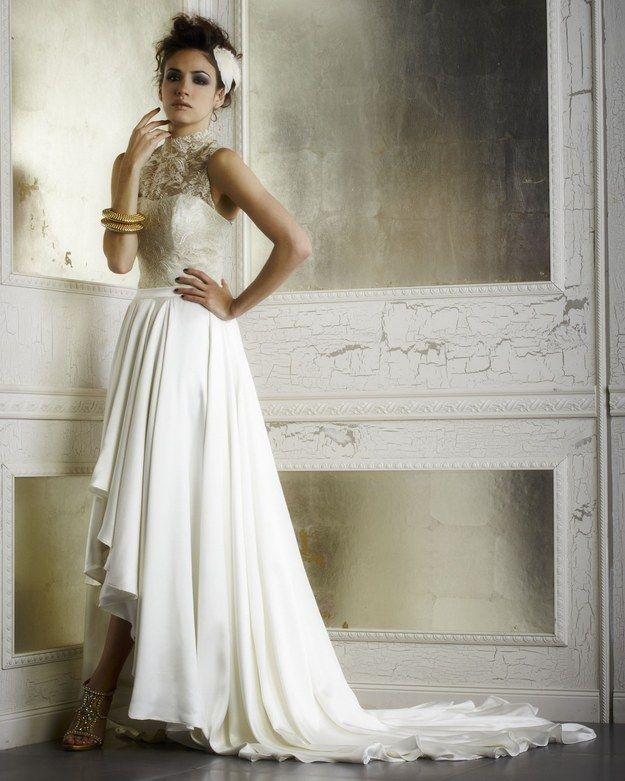 2a4a3541be This Glamorous High-Low Combo   36 Ultra-Glamorous Two-Piece Wedding Dresses  LOVE IT