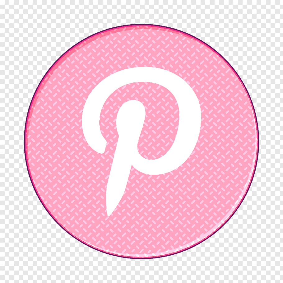 Pinterest Icon Pink Circle Material Property Logo Symbol Sticker Number Png Marker Icon Apple Icon Map Icons