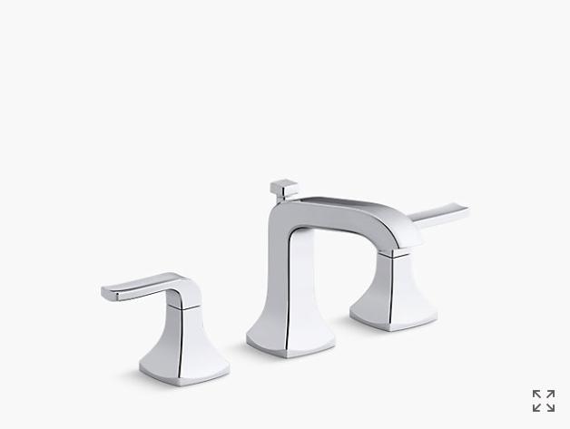 K R76216 4d Rubicon Widespread Bathroom Faucet Kohler Sink Faucets Bathroom Faucets Widespread Bathroom Faucet