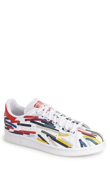 0ee1617bc60150 Free shipping and returns on adidas  Stan Smith - Graphic  Sneaker (Men) at  Nordstrom.com. Colorful graphic-print accents add to the retro-cool flair  of a ...
