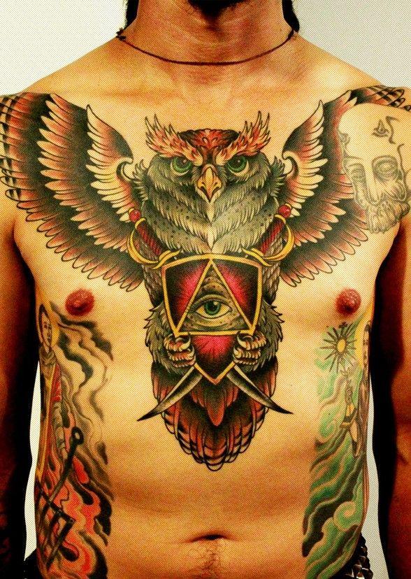 5tatuaje De Buho Y Ojo Jpg 588 828 Tatuaje Buho Tatuajes De