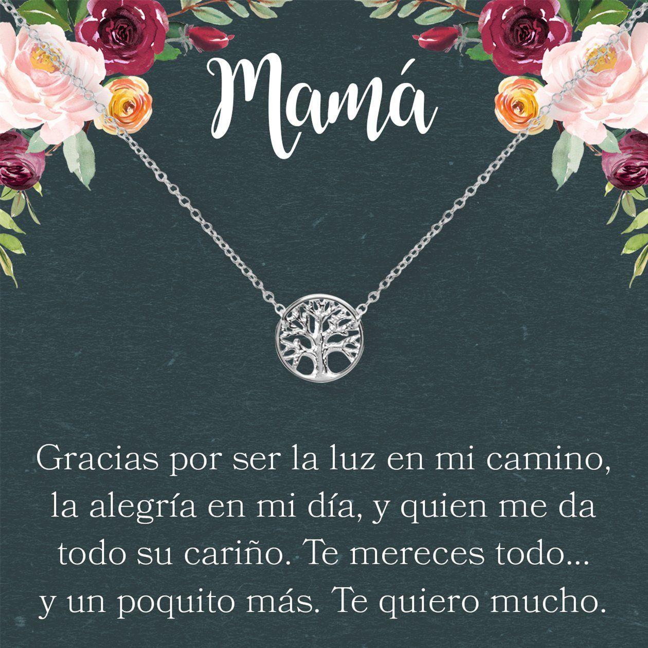 D/ía de la Mujer Collar Regalo Madre e Hija: D/ía de la Madre Cumplea/ños Mam/á 2 Asymmetrical Circles