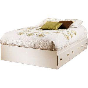 South Shore Summer Breeze Full Mates Bed White Wash Tempat
