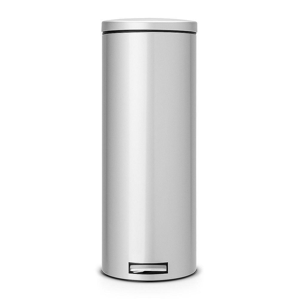 Brabantia 20 Liter Pedaalemmer.Brabantia Slimline Silent Pedaalemmer 20 L Metallic Grey