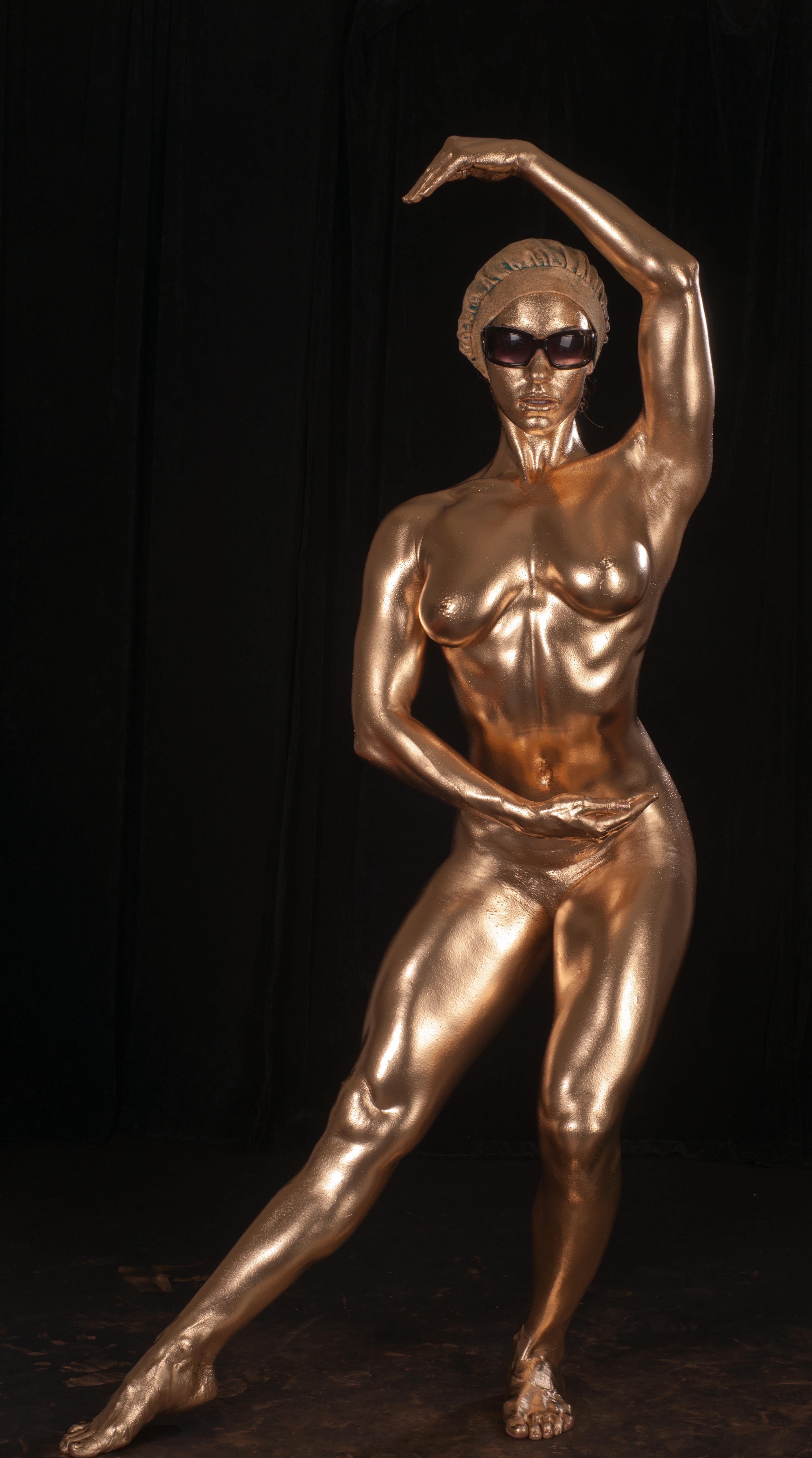 Gold Mehron Body Paint