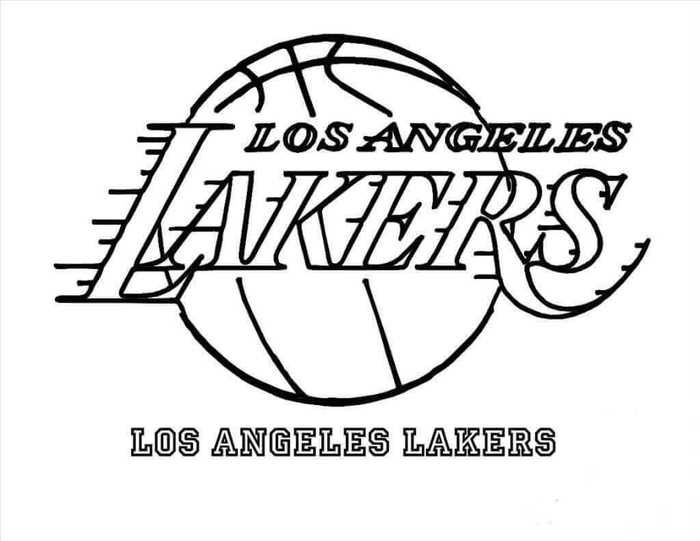 Printable Nba Coloring Pages Sports Coloring Pages Los Angeles Lakers Lakers