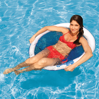 SwimWays Spring Float Papasan   $24.95. Fabric Covered Floating Pool Chair.  3 Colors