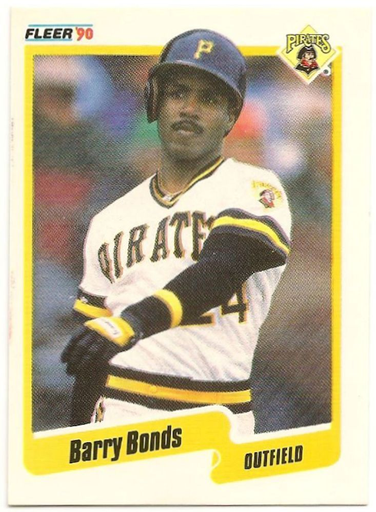 1990 fleer baseball card 461 barry bonds pittsburgh