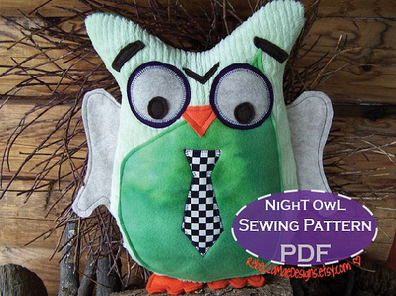 OwL PiLLoW pLuSHie DIY sewing pattern - Owl Birthday Party Favor ...