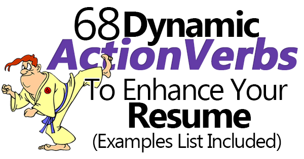 Words To Use On Resume Use These 68 Action Verbs Or Action Words To Crank Up Your Resume .