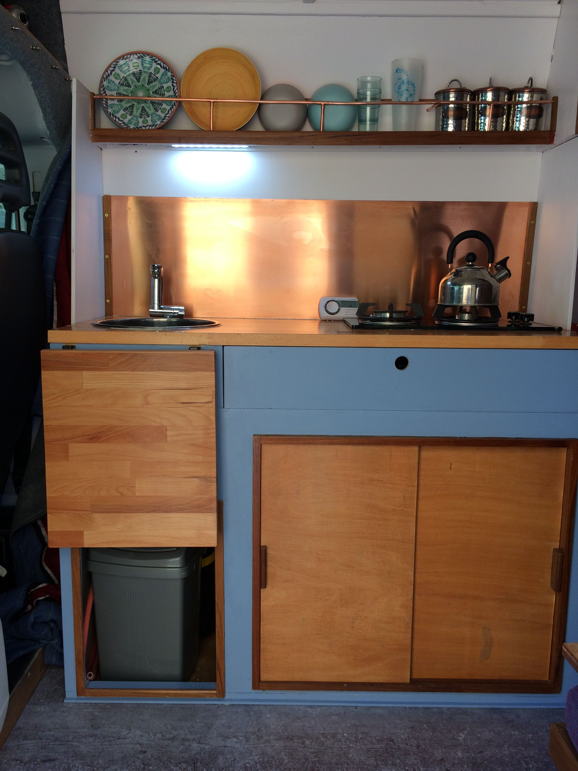 The Kitchen In Our Camper Van Vanlife Home Decor Kitchen Liquor Cabinet