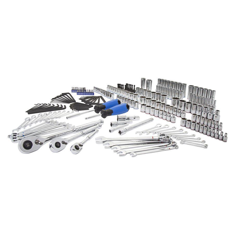 Kobalt 227-Piece Standard//Metric Mechanics Tool Set with Case 86756