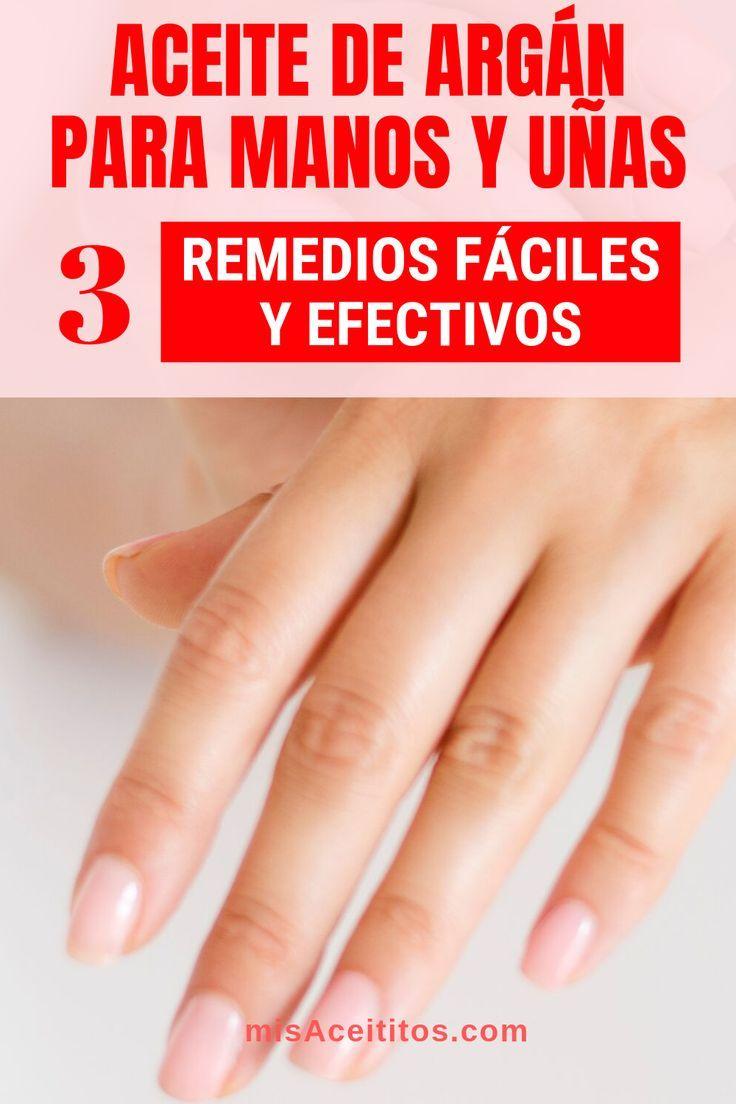 Aceite de Argán para manos y uñas: 3 Remedios fáciles y efectivos