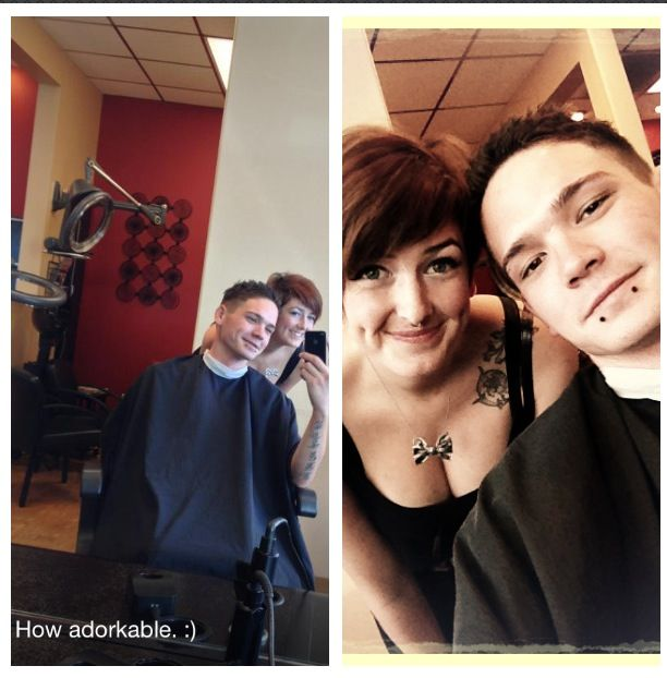My client and myself! If your interested call the H.S. Salon at 858-581-1714 ask for Rachelle Geviss!