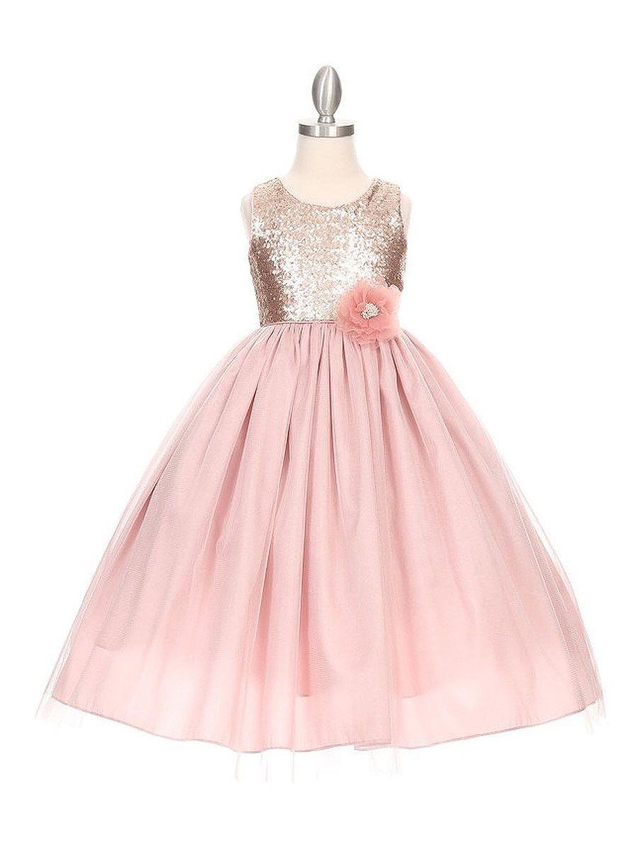 Matte sequin long dress with full tulle skirt wedding stuff