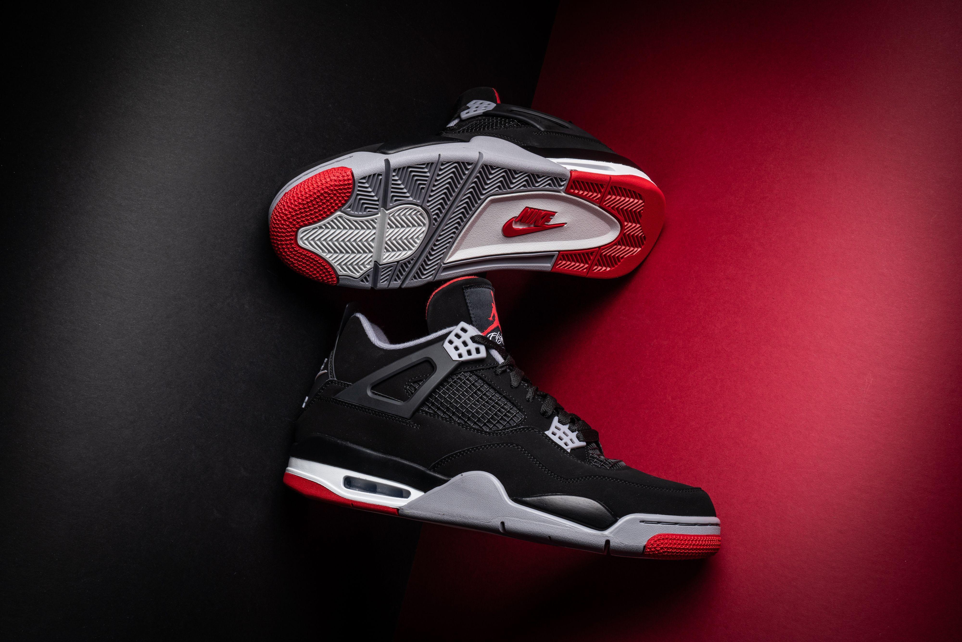 Air Jordan 4 Retro Bred 2019 Release 308497 060 2019 In 2020 Air Jordans Jordan 4 Jordans