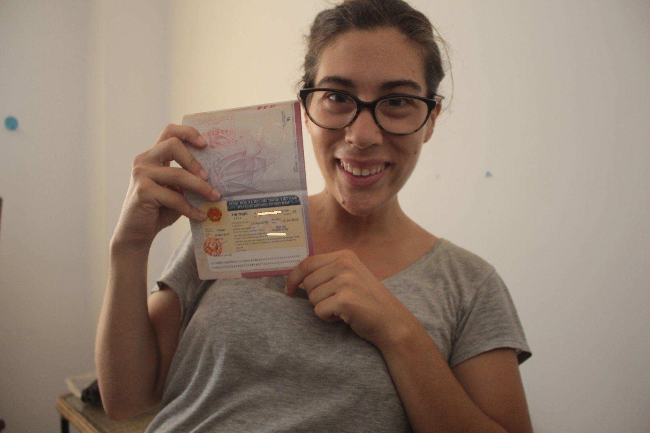 Con el visado en mano! :)