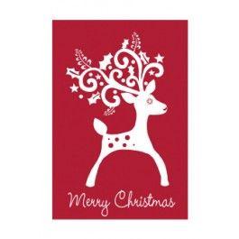 "Flags A' Flying ""Christmas Reindeer"" Applique Seasonal Banner; Polyester 30""x44"" - Christmas"