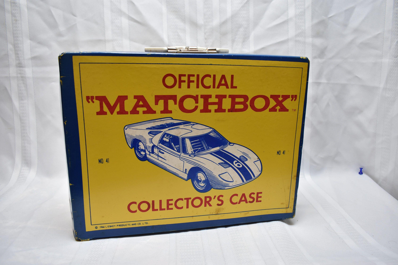 Vintage Matchbox Collector S Case 1966 No 41 Ford Gt40 Holds 48 1 64th Cars Hot Wheels Matchbox Etc Original Diecast To Matchbox Diecast Toy Matchbox Cars