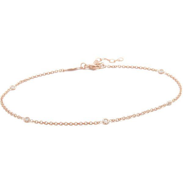 Jacquie Aiche 14-karat Rose Gold Diamond Anklet JMw01