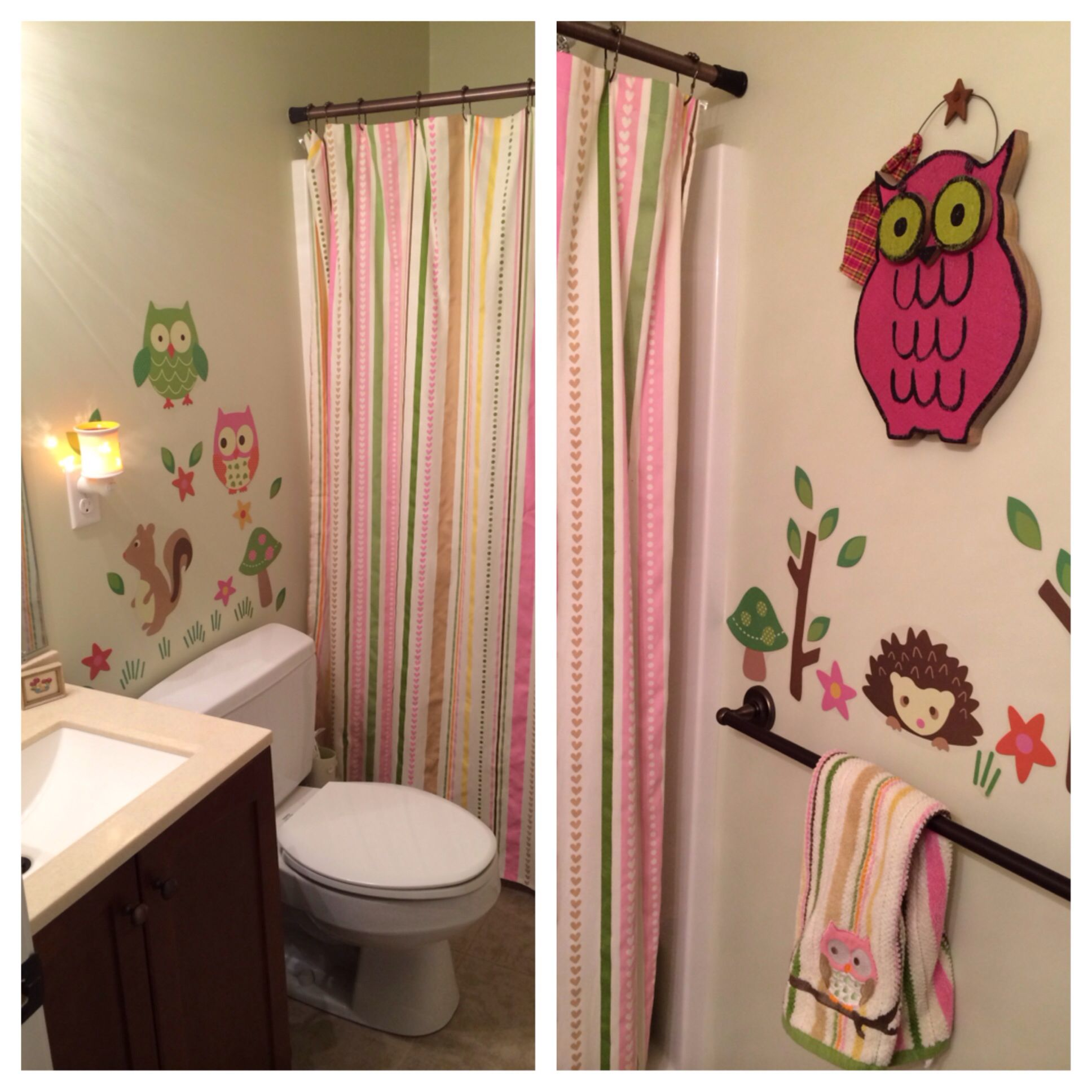 Our Owl Bathroom Set From Target Bathroom Decor Owl Bathroom Decor Owl Bathroom Owl bathroom decor set