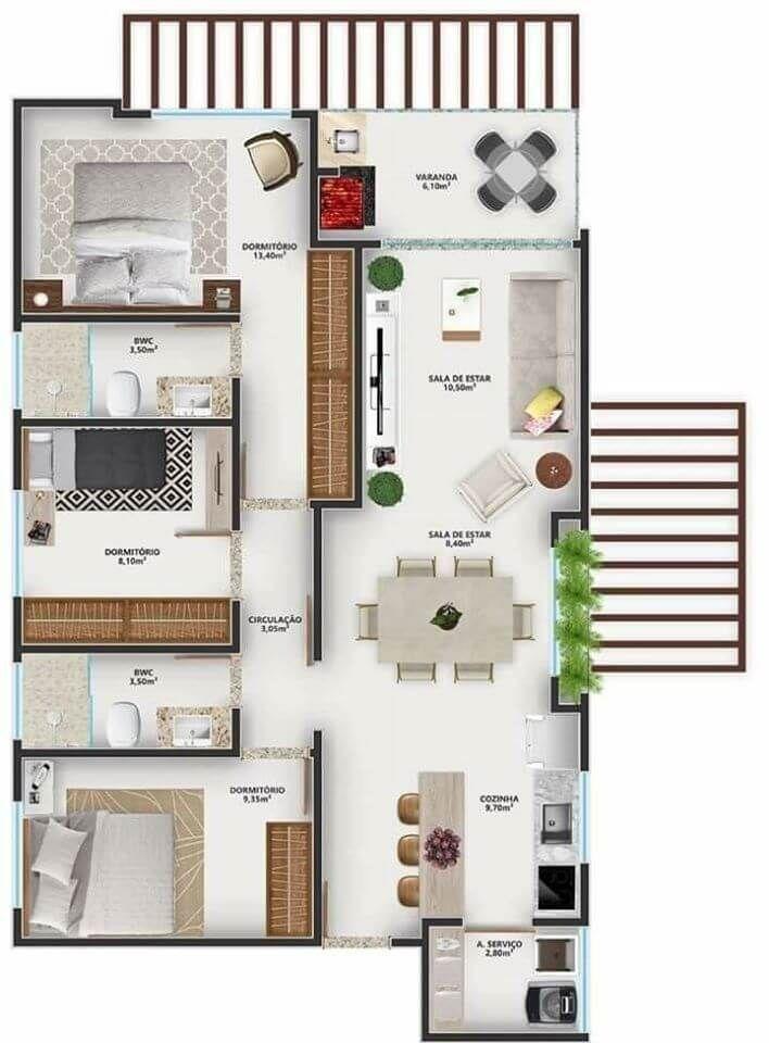 Penthouse 3d Floor Plan Top View 3d Floor Plans Floorplans 3d 3dfloorplans Penthouse Home Building Design Sims House Design House Layout Plans
