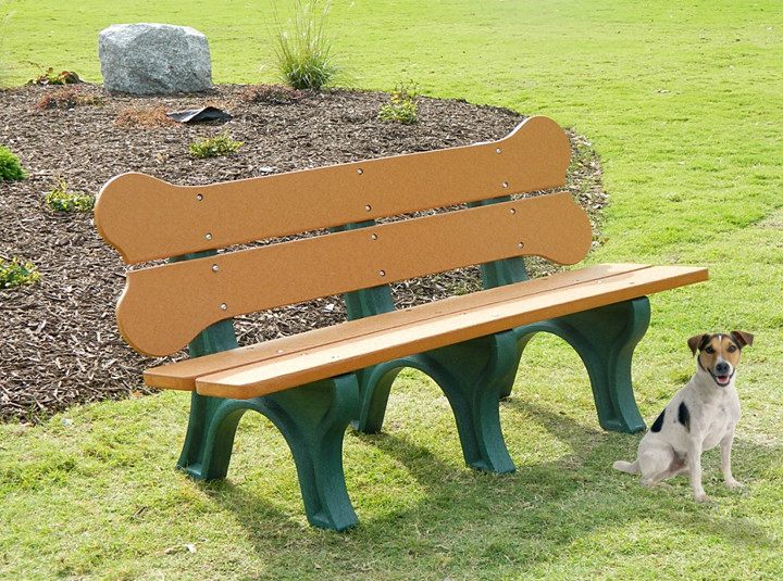 our 6 dog bone bench is a cute addition to any commercial pet