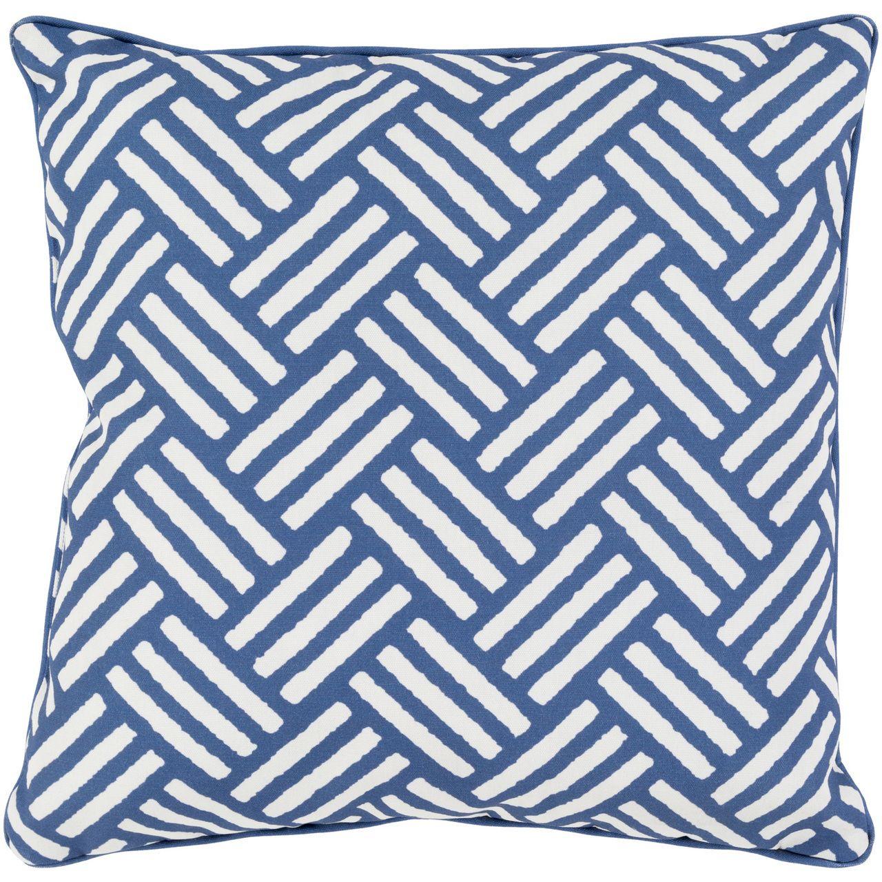 Basketweave Pillow - Cobalt Blue
