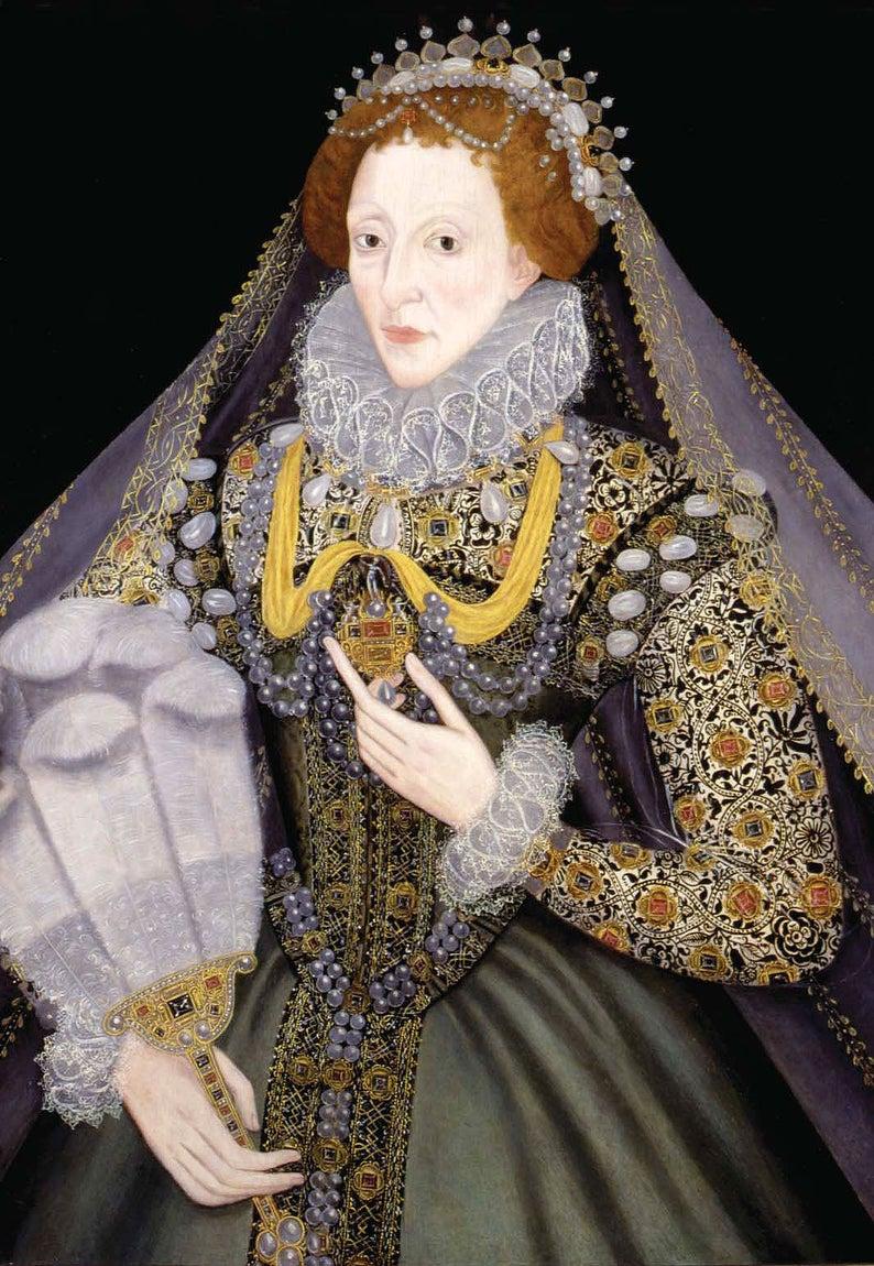 Elizabeth 1 Veil Borders Machine Embroidery Designs Set For Tulle For Hoop 5x7 And 8x12 In 2021 Elizabeth I Renaissance Fashion Elizabeth