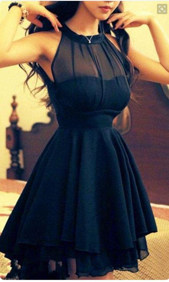 4e4d43376 Vestido azul marino muy simple pero hermoso