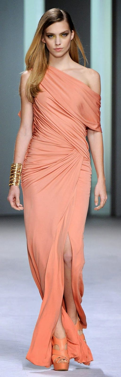 Elie Saab coral color dress. | Fashion | Pinterest | Coral colored ...