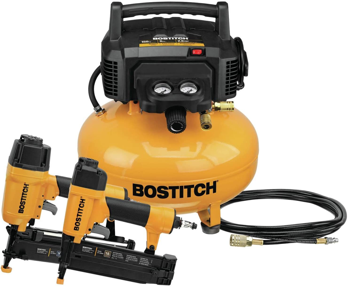 BOSTITCH Pancake Air Compressor 6 Gallon in 2020 Combo