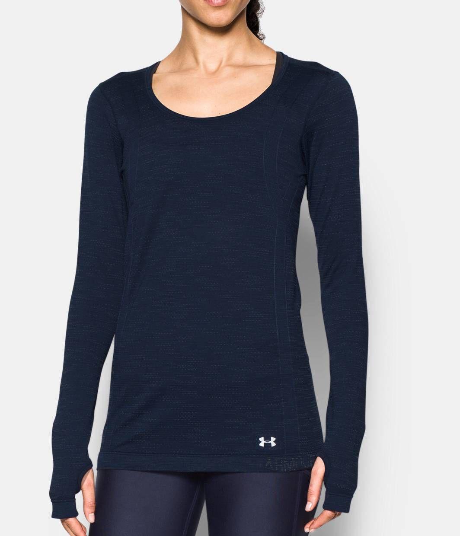 Womenus ua threadborne seamless space dye long sleeve fitness