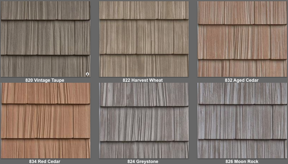 Vinyl Shake Siding Colors Split Look And Feel Of Real Cedar New Box
