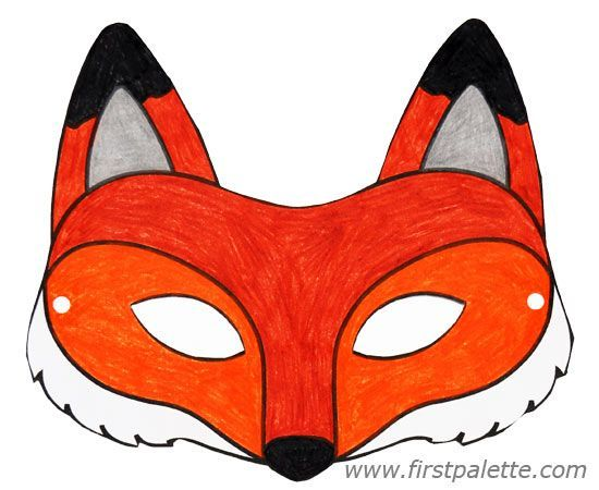 Fox mask and other free printable animal masks first for Fantastic mr fox mask template