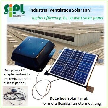 Solar Roof Vent Fan 12 Air Duct 30 Watt Solar Panel 2m Cable To Connect Ventilator Solar Panel Flexible High Efficiency Solar Panels Solar Solar Roof