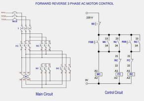 Star Delta Wiring Diagram Control Household Electrical Diagrams Forward Reverse 3 Phase Ac Motor