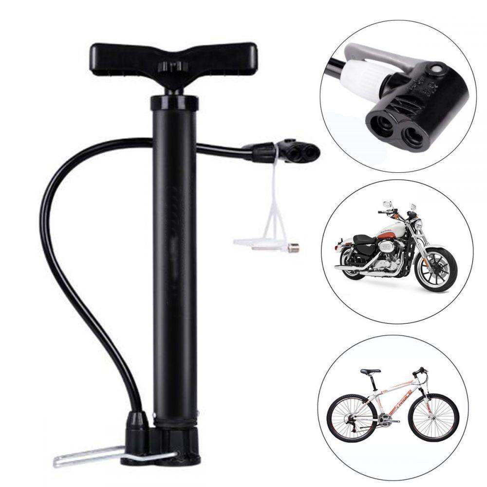 Portable Bicycle Air Pump Hand Ball Inflator High Pressure Bike