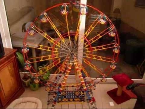 Knex Easy Instructions Knex Ferris Wheel Best Tutorial Youtube