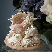 Seashell Beach Wedding Cake Topper