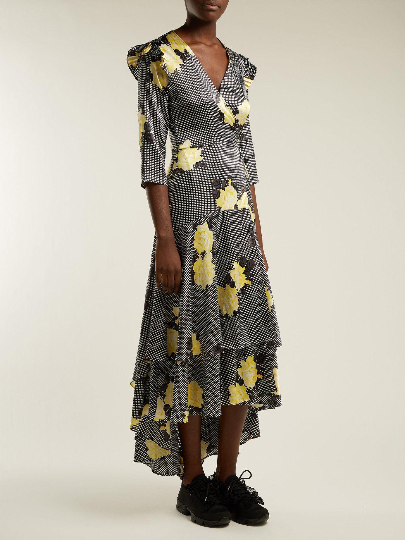 1b559f32 Calla silk-blend wrap dress | Ganni | MATCHESFASHION.COM US | Fall ...