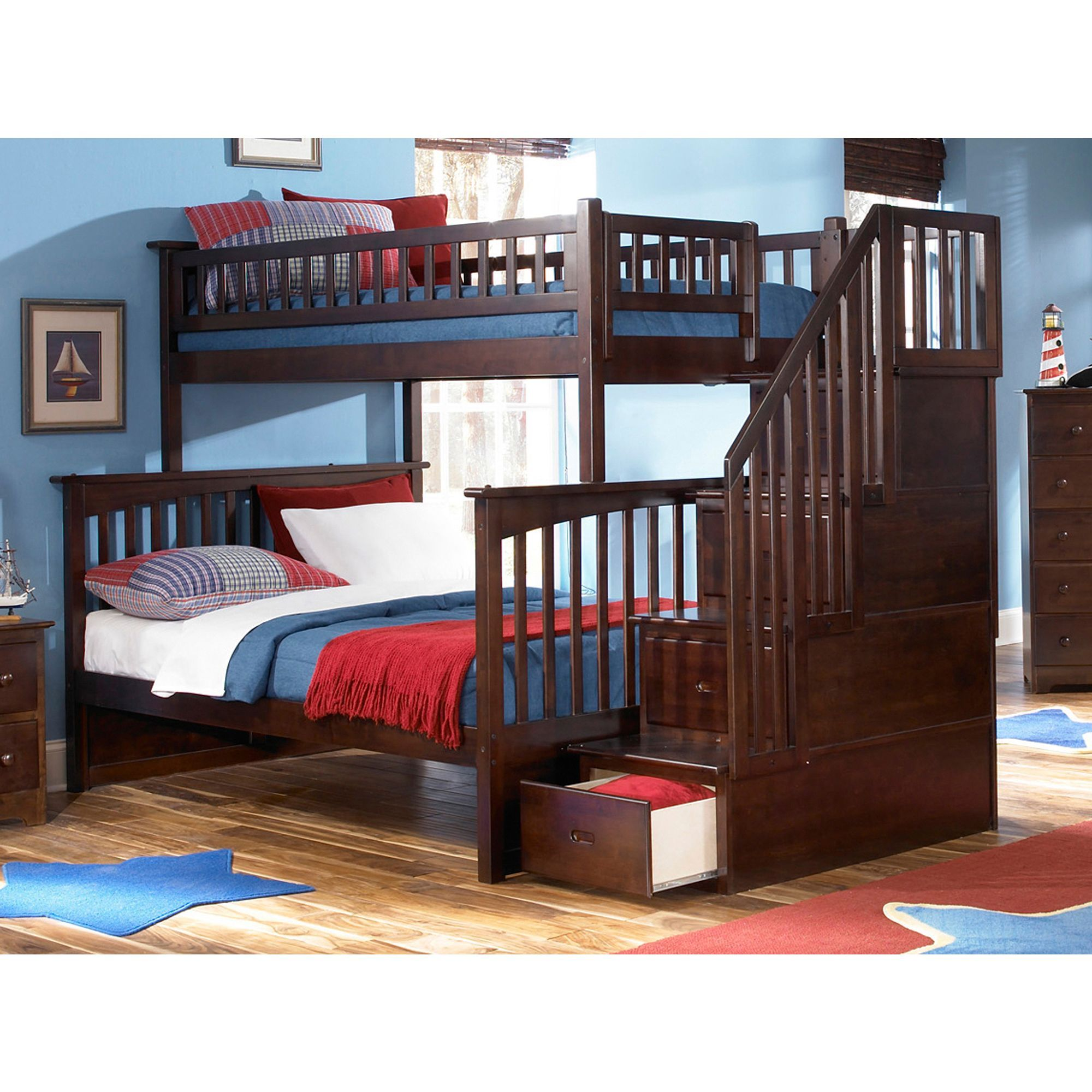 Atlantic Furniture Columbia Staircase Bunk Bed Twin Over
