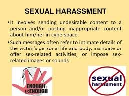 Cyber sexual harassment
