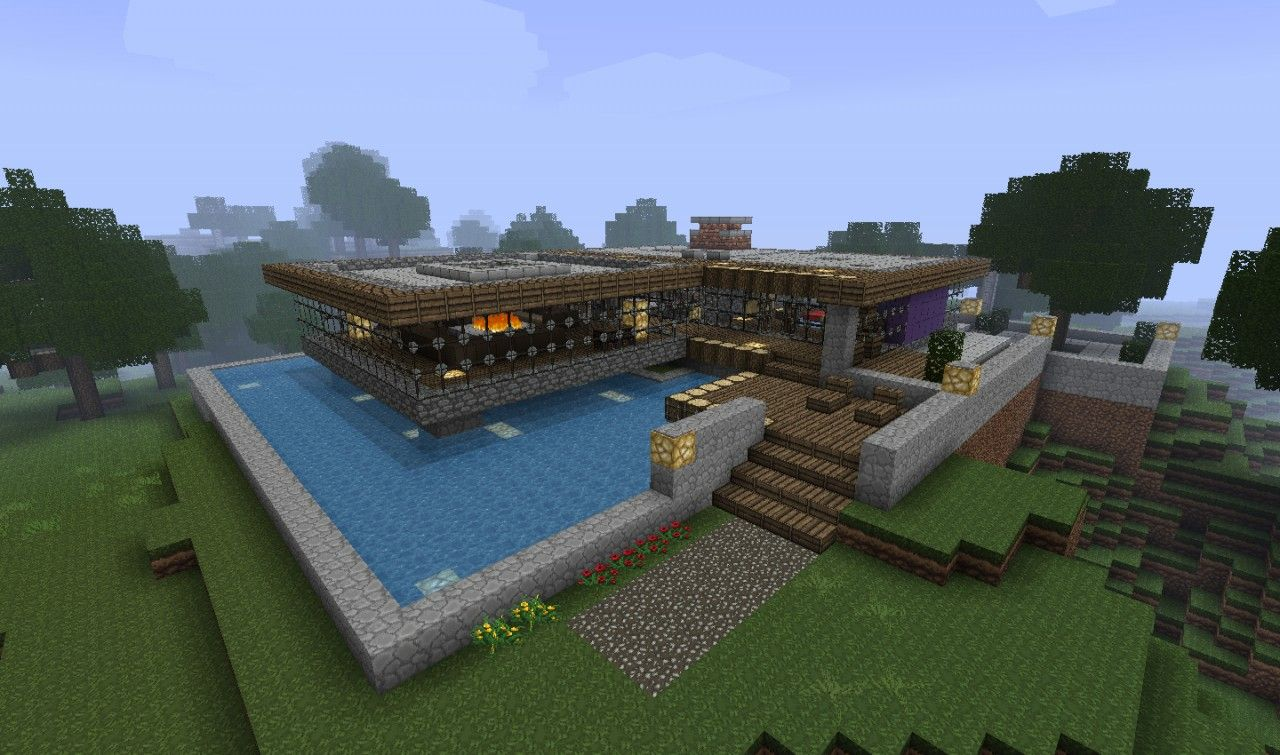 Bungalow on Creeper Island Minecraft Project  Minecraft projects